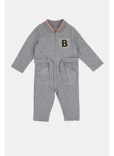BG Baby Erkek Bebek Gri Melanj Tulum 20Pfwbg1801 Gri